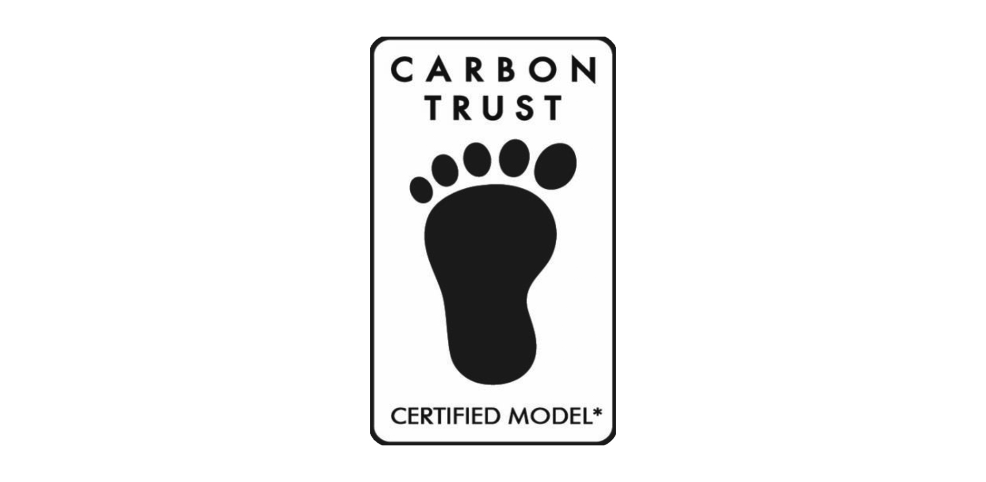Certification from the Carbon Trust